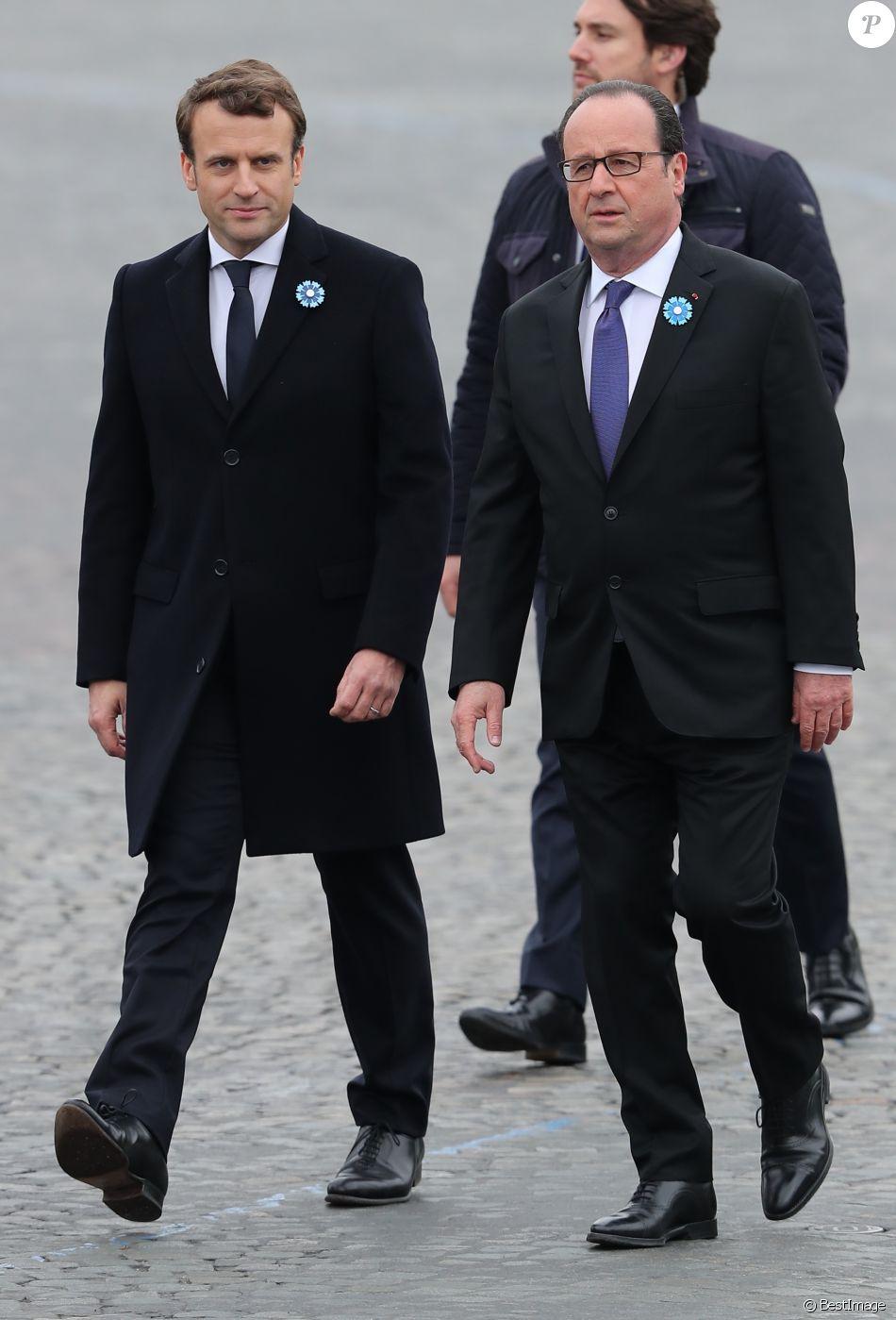 Le President Elu Emmanuel Macron Et Le President Francois Hollande