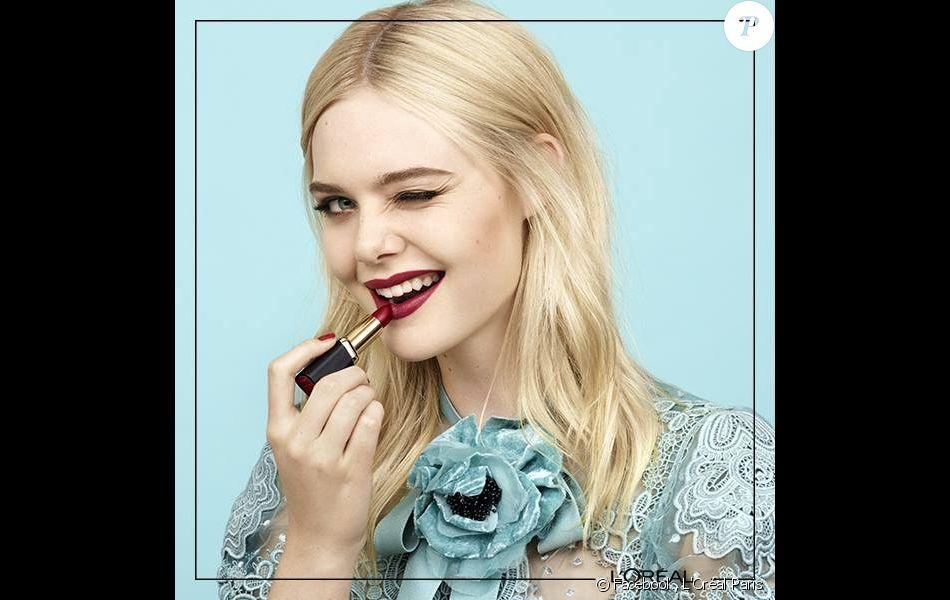 Elle Fanning est la nouvelle ambassadrice de L'Oréal Paris. Mai 2017.