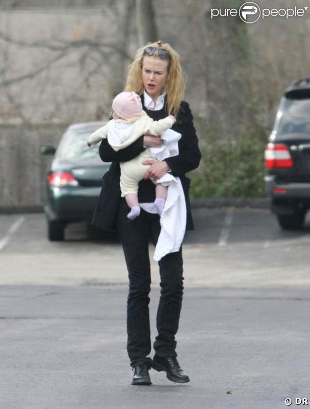 Nicole Kidman avec sa fille Sunday Rose, à Nashville.