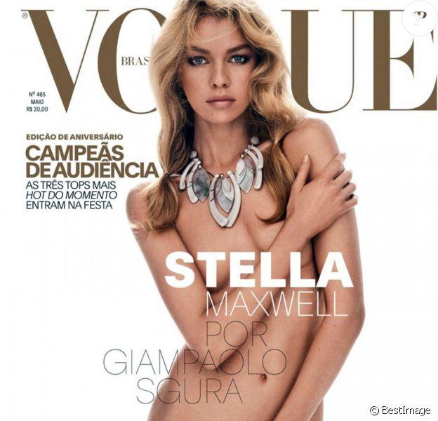 Stella Maxwell (petite amie de K.Stewart) pose pour la couverture de Vogue Brésil, toute nue  Stella Maxwell (K.Stewart girlfriend) poses for the cover of Vogue Brazil, all nude15/05/2017 -
