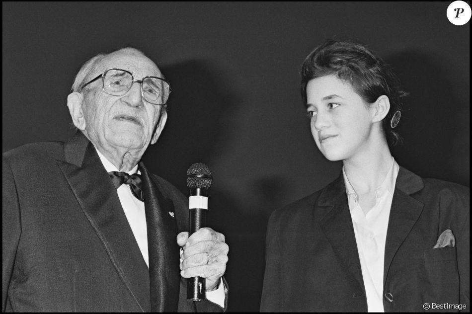 Charles Vanel et Charlotte Gainsbourg au Festival de Cannes en 1986