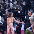 """Bella Hadid et son père Mohamed Hadid - Montée des marches du film """"Les Fantômes d'Ismaël"""" lors de la cérémonie d'ouverture du 70e Festival International du Film de Cannes. Le 17 mai 2017 © Borde-Jacovides-Moreau/Bestimage"""