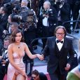 Bella Hadid et son père Mohamed Hadid - Cérémonie d'ouverture du 70e Festival International du Film de Cannes. Le 17 mai 2017 © Borde-Jacovides-Moreau/Bestimage