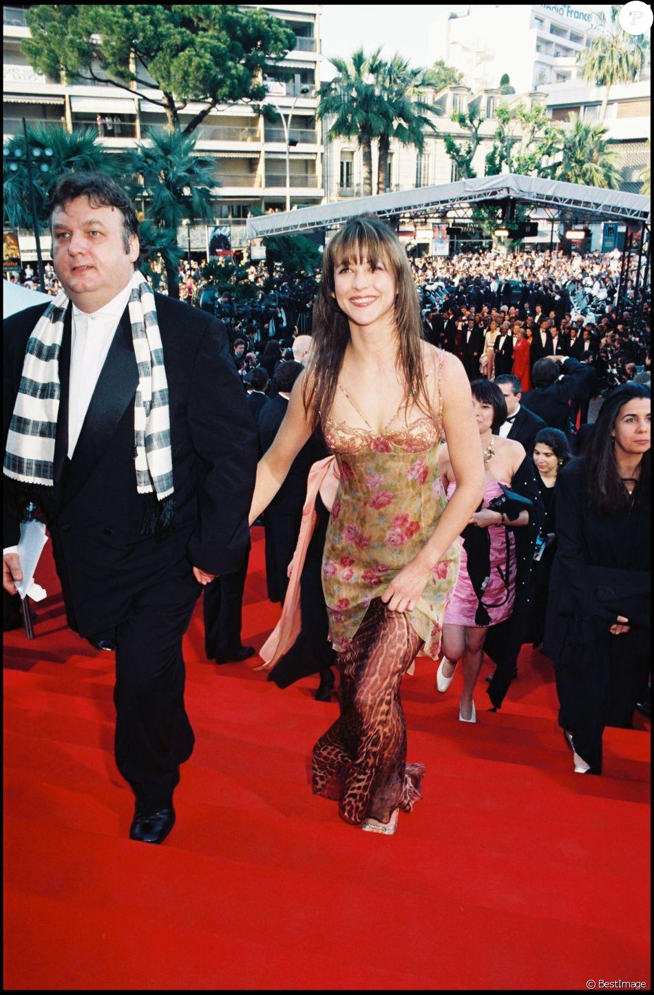 Sophie Marceau et Dominique Besnehard au Festival de Cannes en 1998