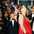 """""""Sophie Marceau et Dominique Besnehard au Festival de Cannes en 1995"""""""