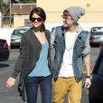 Justin Bieber et Selena Gomez en couple, le 21 novembre 2011.