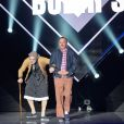 """Les Bodin's (Vincent Dubois et Jean-Christian Fraiscinet) - Enregistrement de l'émission """"Le Grand Show de l'humour"""" présentée par M.Drucker au Palais des Sports à Paris. Le 15 mai 2017. L'émission sera diffusée le samedi 20 Mai sur France 2.© Coadic Guirec"""