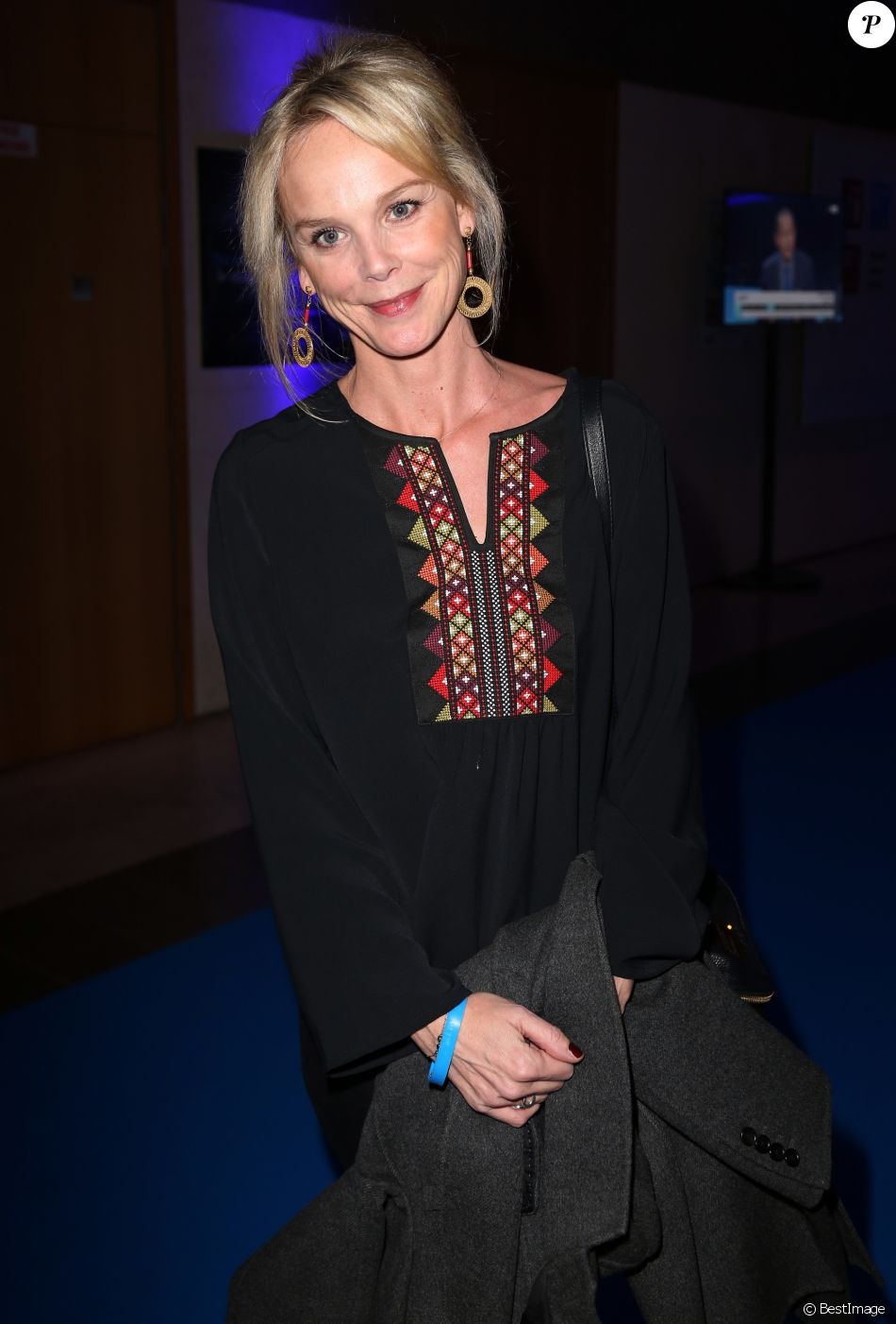 Exclusif - Vanessa Burggraf à la soirée organisée pour célébrer les 10 ans de la chaine France 24. Issy-les-Moulineaux, le 6 décembre 2016. © Marc Ausset-Lacroix/Bestimage