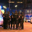 Intervention de la police aux abords de la Manchester Arena, le 22 mai 2017