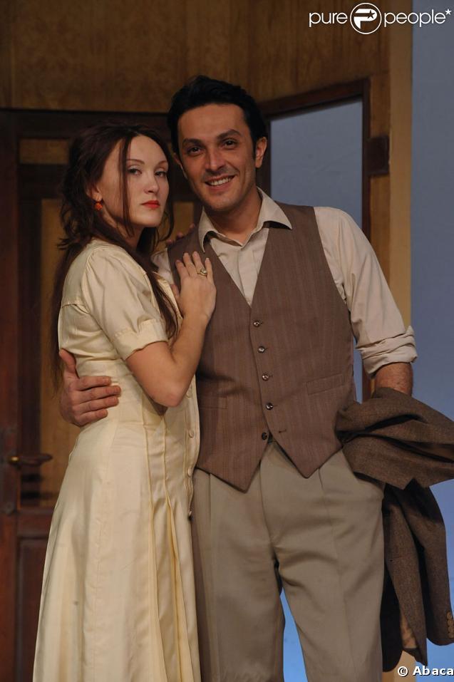 """Laura Presgurvic et Olivier Sitruk au théâtre des Mathurins (Paris) pour la pièce """"Le Facteur sonne toujours deux fois"""""""