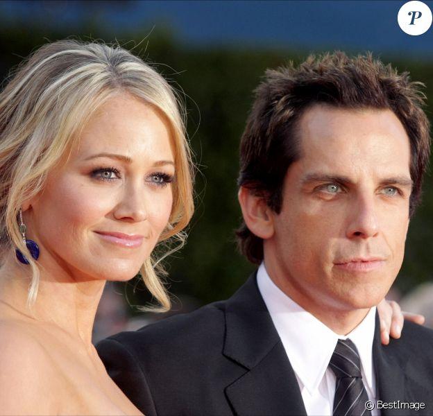 Ben Stiller et Christine Taylor àWestwood, en 2008.