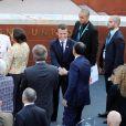 Le président français Emmanuel Macron et sa femme Brigitte Macron (Trogneux) - Concert au théâtre grec de Taormine dans le cadre du sommet du G7 en Sicile le 26 mai 2017 © Sébastien Valiela / Bestimage