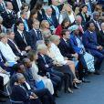 Le président américain Donald Trump et sa femme Mélania Trump, Brigitte Macron (Toogneux) et le président français Emmanuel Macron, le primer ministre japonais Shinzo Abe et sa femme Akie Abe, la chancelière allemande Angela Merkel et son mari Joachim Sauer, le premier ministre canadien Justin Trudeau, Donald Tusk président du conseil Européen et sa femme Malgorzata Tusk - Concert au théâtre grec de Taormine dans le cadre du sommet du G7 en Sicile le 26 mai 2017 © Sébastien Valiela / Bestimage