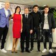 Zinédine Zidane avec sa femme Véronique et ses quatre enfants Enzo, Luca, Elyaz et Théo, Florentino Perez - Zinédine Zidane devient l'entraineur du Real de Madrid et remplace ainsi Rafael Benítez à Madrid en Espagne le 4 janvier 2015.