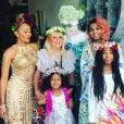 Mel B et sa mère se sont réconciliées. Elle pose avec ses trois filles et sa maman pour rendre hommage à son père, décédé d'un cancer en mars dernier - Photo publiée sur Instagram le 30 mai 2017