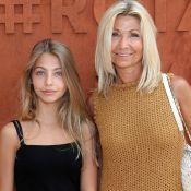 Natty et sa fille Stella Belmondo, 13 ans : Duo craquant à Roland-Garros
