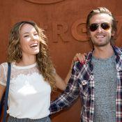 Élodie Fontan et Philippe Lacheau, in love à Roland-Garros devant Alicia Aylies