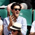 Bérengère Krief et son compagnon dans les tribunes lors des internationaux de France de Roland Garros à Paris, France, le 1er juin 2017. © Jacovides-Moreau/Bestimage
