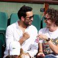 Jonathan Cohen et Baptiste Lecaplain dans les tribunes lors des internationaux de France de Roland Garros à Paris, France, le 1er juin 2017. © Jacovides-Moreau/Bestimage