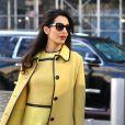 Amal Alamuddin Clooney (enceinte) quitte son hôtel de New York pour se rendre aux Nations Unies le 9 mars 2017.