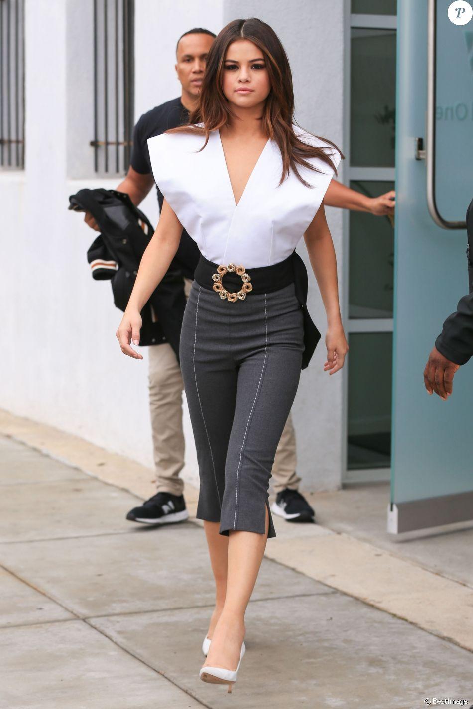 """Selena Gomez assure la promotion de son nouveau titre """"Bad Liar"""" à Los Angeles, le 8 juin 2017."""