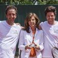 Cyrille Eldin, Framboise Holtz et Jean Imbert lors de la dernière journée du Trophée des Personnalités de Roland-Garros le 8 juin 2017.