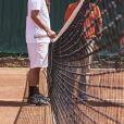 Cyrille Eldin et Jean Imbert lors de la dernière journée du Trophée des Personnalités de Roland-Garros le 8 juin 2017.