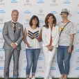 Estelle Denis, Framboise Holtz et Géraldine Maillet lors de la dernière journée du Trophée des Personnalités de Roland-Garros le 8 juin 2017.