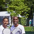 Julien Benedetto et Eddy Murté lors de la dernière journée du Trophée des Personnalités de Roland-Garros le 8 juin 2017.