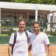 Grégory Ascher Julien benedetto lors de la dernière journée du Trophée des Personnalités de Roland-Garros le 8 juin 2017.