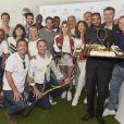 Toute léquipe lors de la dernière journée du Trophée des Personnalités de Roland-Garros le 8 juin 2017.