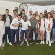 Toutes les personnalités lors de la dernière journée du Trophée des Personnalités de Roland-Garros le 8 juin 2017.