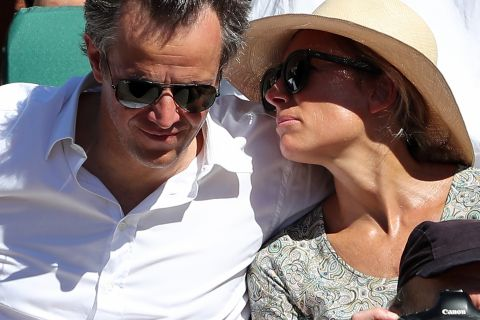 Anne-Sophie Lapix, Marie Drucker : Radieuses avec leurs amoureux à Roland-Garros