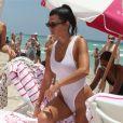 Kourtney Kardashian profite d'un après-midi ensoleillé avec son fils Reign Aston et son amie Larsa Pippen à Miami, le 11 juin 2017.
