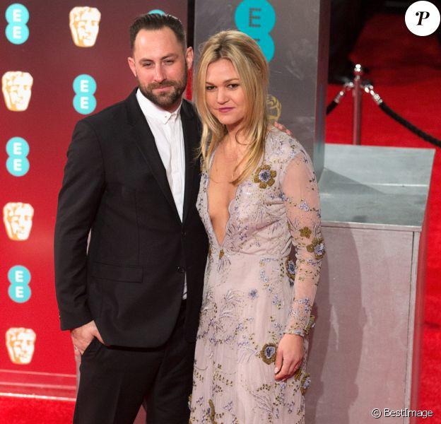 Preston J.Cook and et sa fiancée Julia Stiles à la cérémonie des British Academy Film Awards (BAFTA) au Royal Albert Hall à Londres, le 12 février 2017.