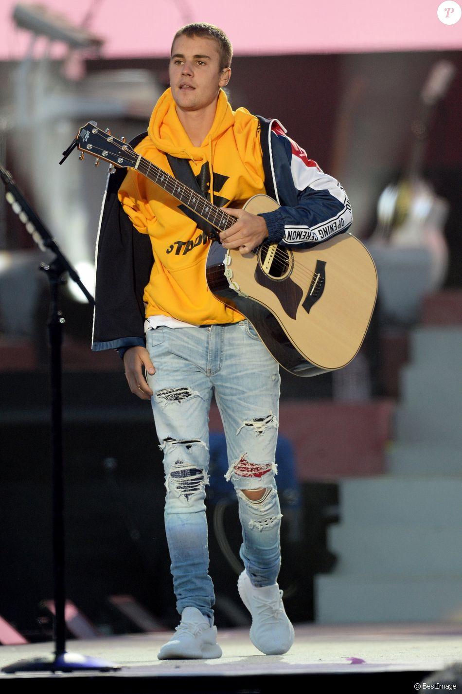 Justin Bieber - Attentat de Manchester : 'One Love Manchester', concert exceptionnel organisé au profit des familles des victimes à Manchester le 4 juin 2017 © DaveHogan For OneLoveManchester/GoffPhotos.com via Bestimage