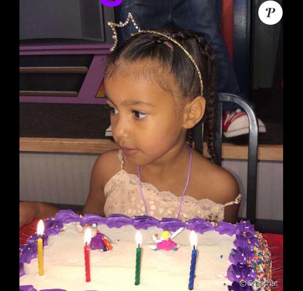 North West fête ses 4 ans - Photo publiée sur Snapchat le 15 juin 2017
