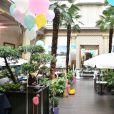 """Exclusif - Illustration de la Soirée """"Palm Springs 60's"""" à l'hôtel Prince de Galles pour l'inauguration de son patio d'été à Paris le 15 juin 2017. © Rachid Bellak / Bestimage"""
