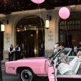 """Exclusif - Sylvie Tellier à la Soirée """"Palm Springs 60's"""" à l'hôtel Prince de Galles pour l'inauguration de son patio d'été à Paris le 15 juin 2017. © Rachid Bellak / Bestimage"""