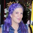 Tori Spelling et ses cheveux violets lors de la projection de Moi, Moche et Méchant 3 à Los Angeles, le 16 juin 2017