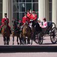 """Camilla Parker Bowles, duchesse de Cornouailles et Catherine Kate Middleton, duchesse de Cambridge - La famille royale d'Angleterre arrive au palais de Buckingham pour assister à la parade """"Trooping The Colour"""" à Londres le 17 juin 2017."""