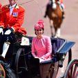 """Catherine Kate Middleton, duchesse de Cambridge - La famille royale d'Angleterre au balcon du palais de Buckingham pour assister à la parade """"Trooping The Colour"""" à Londres le 17 juin 2017. Royal family at Buckingham palace during Trooping the Colour ceremony in London on June 17th, 2017.17/06/2017 - Londres"""