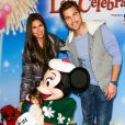Roselyn Sanchez et Eric Winter avec leur fille Sebella Rose Winter le 11 décembre 2014 à Los Angeles