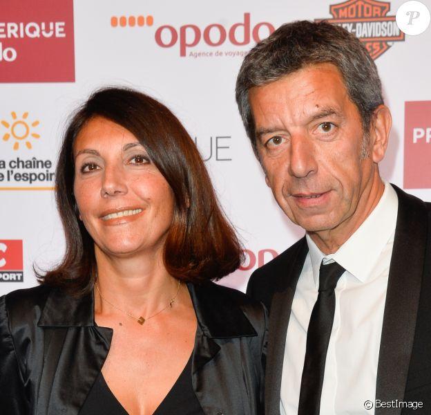 Michel Cymes avec sa femme Nathalie lors du dîner de gala du 96ème Prix d'Amérique Opodo à l'hôtel Salomon de Rothschild à Paris, le 28 janvier 2017. © Guirec Coadic/Bestimage