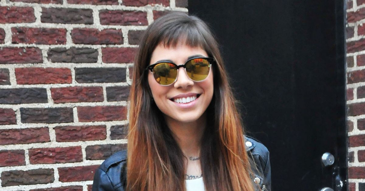 Christina Perri arrive à l'émission Late Show With David ...