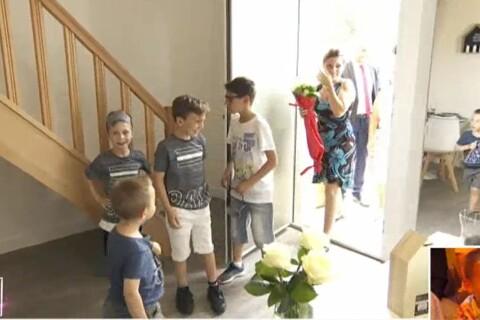 TPMP : Céline et ses enfants découvrent leur nouvelle maison, larmes et émotion...
