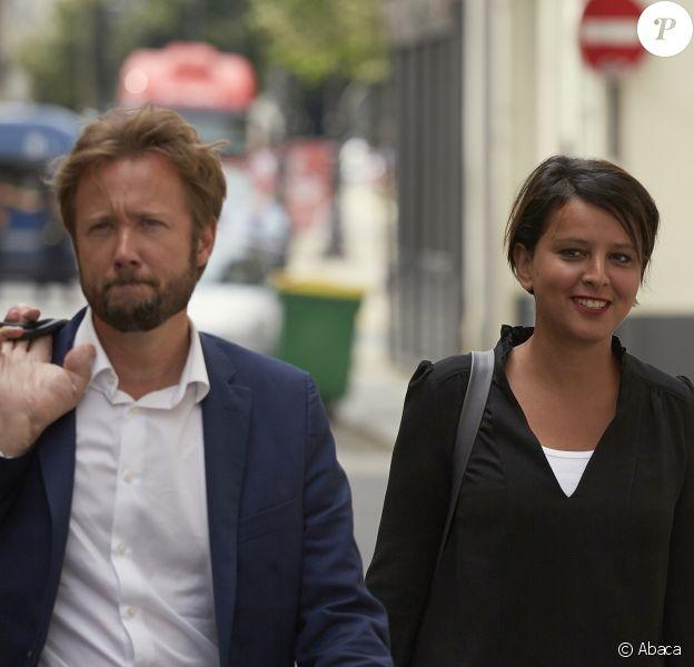 Najat Vallaud-Belkacem et son mari Boris Vallaud, arrivent au conseil national du Parti Socialiste, à Paris, le 24 juin 2017