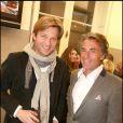 Laurent Delahousse et Gérard Holtz au dîner annuel de l'hôtel Guanahani. 28/01/09