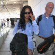 Rihanna prend un vol à l'aéroport LAX de Los Angeles, le 24 juin 2017.