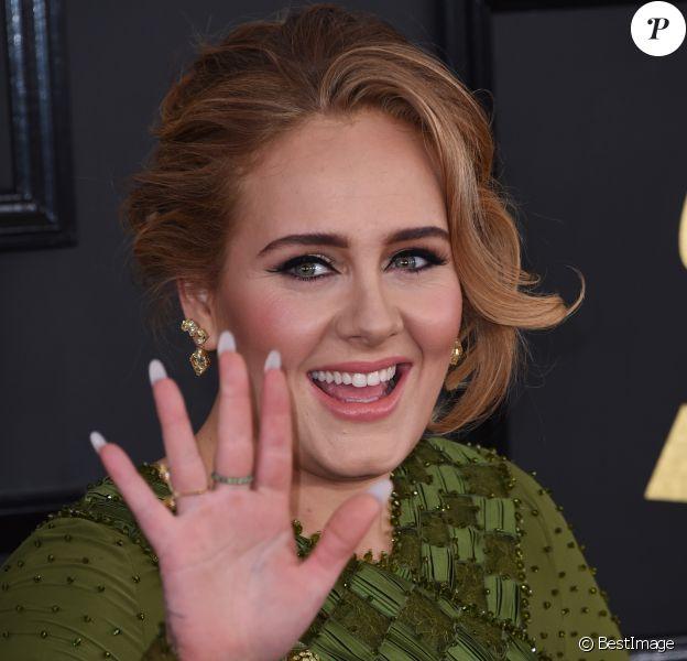 Adele à la 59e soirée annuelle des Grammy Awards au théâtre Microsoft à Los Angeles, le 12 février 2017 © Chris Delmas/Bestimage